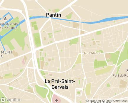 Localisation EHPAD Les Jardins de Pantin - 93500 - Pantin