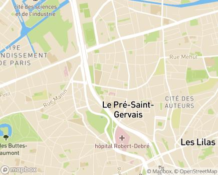 Localisation EHPAD Résidence La Chanterelle - 93310 - Le Pré-Saint-Gervais