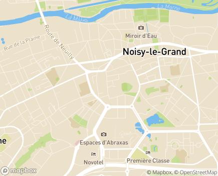 Localisation SSIAD Service de Soins Infirmiers à Domicile - 93160 - Noisy-le-Grand