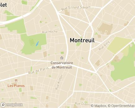 Localisation Cap'Santé - Service de Soins Infirmiers à Domicile - 93100 - Montreuil