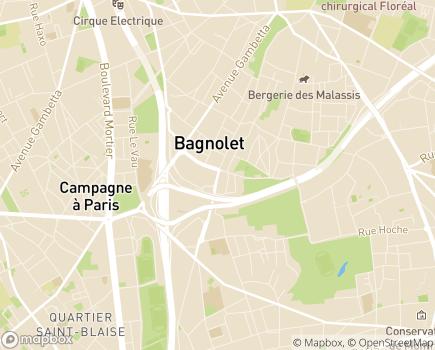 Localisation SSIAD Service de Soins Infirmiers à Domicile - 93170 - Bagnolet