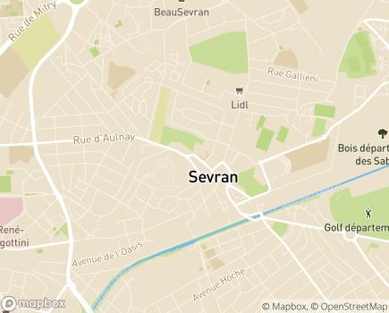 Localisation SSIAD Service de Soins Infirmiers à Domicile - 93270 - Sevran