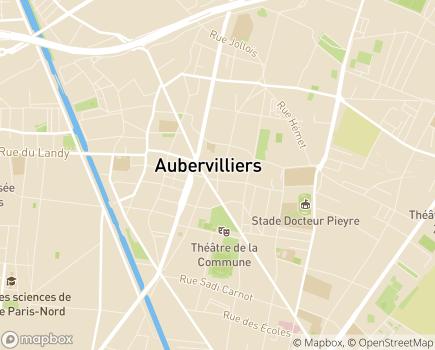 Localisation SSIAD Service de Soins Infirmiers à Domicile - 93300 - Aubervilliers