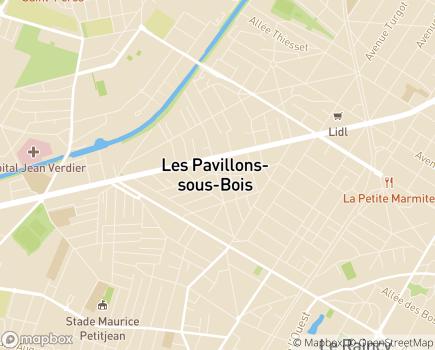 Localisation SSIAD Service de Soins Infirmiers à Domicile - 93320 - Les Pavillons-sous-Bois
