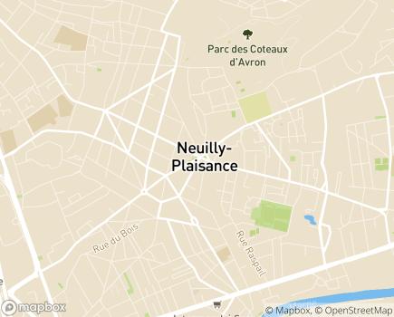 Localisation SSIAD Service de Soins Infirmiers à Domicile - 93360 - Neuilly-Plaisance