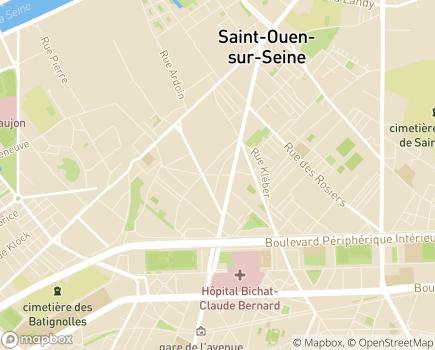 Localisation SSIAD Service de Soins Infirmiers à Domicile - 93400 - Saint-Ouen