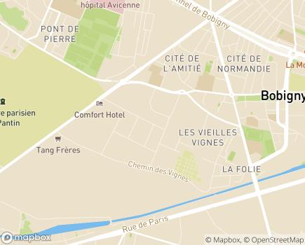 Localisation ESAT Iris-Messidor Bobigny - 93000 - Bobigny