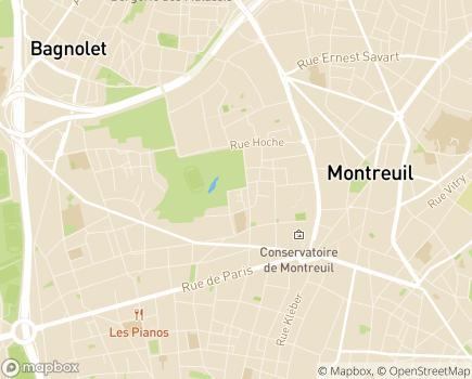 Localisation FAM Les Bons Plants - 93100 - Montreuil
