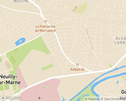 Localisation Net Service à Domicile - 93220 - Gagny