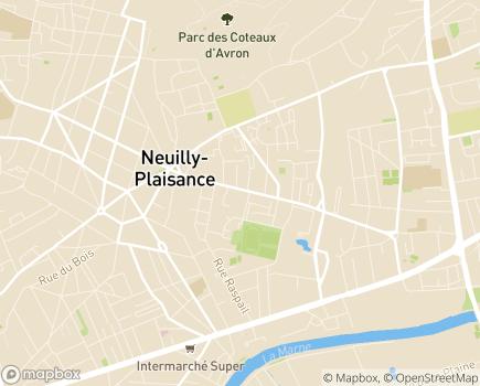 Localisation Korian Lauriers de Plaisance - 93360 - Neuilly-Plaisance