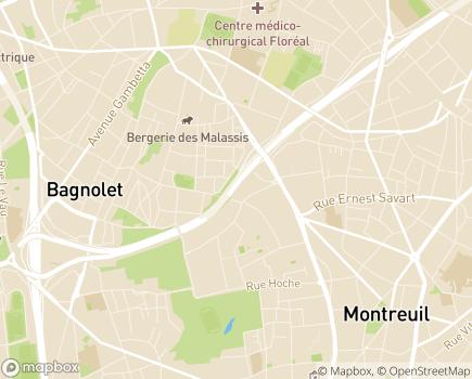 Localisation COS SAMSAH 93 - 93110 - Rosny-sous-Bois