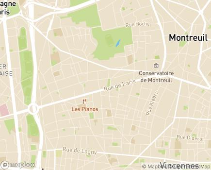 Localisation Résidence Diane Benvenuti - 93100 - Montreuil