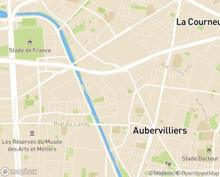 Localisation EHPAD Résidence Les Intemporelles - 93300 - Aubervilliers