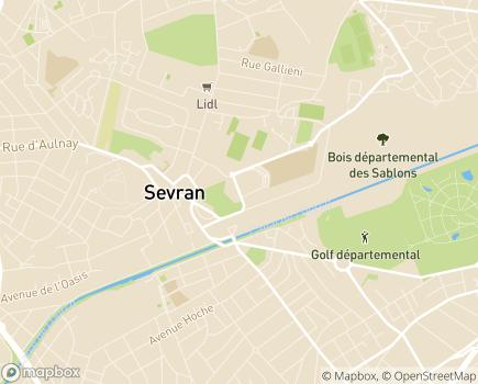 Localisation SAMSAH 93 - Service d'Accompagnement Médico Social pour Adultes Handicapés (Mentales ou Psychiques) - 93270 - Sevran