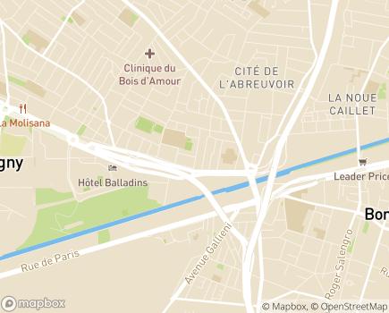 Localisation EHPAD Résidence Le Clos des Peupliers - 93000 - Bobigny