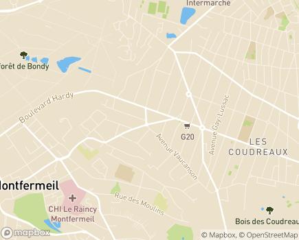 Localisation Foyer de Vie - FAM - Accueil de jour AGECET - 93370 - Montfermeil