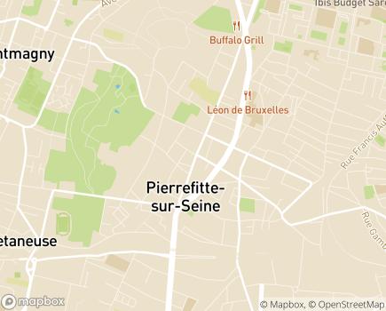 Localisation SSIAD 93, GROUPE SOS Seniors - 93380 - Pierrefitte-sur-Seine