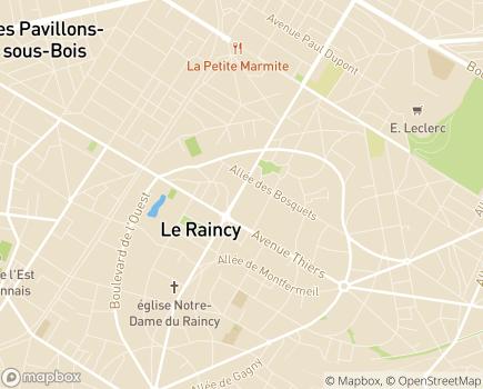 Localisation Résidence avec Services Les Girandières - 93340 - Le Raincy