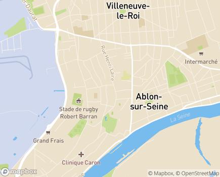 Localisation EHPAD Résidence Henri Laire - 94480 - Ablon-sur-Seine