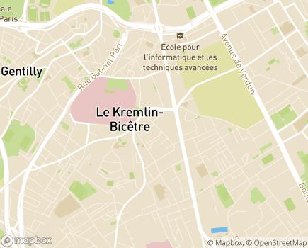 Localisation Foyer d'hébergement La Résidence de l'ETAI - 94372 - Le Kremlin-Bicêtre