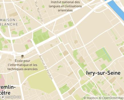 Localisation Adef Résidences siège social - 94207 - Ivry-sur-Seine