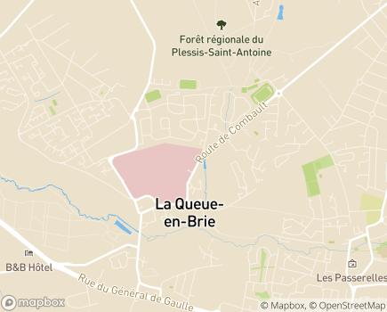 Localisation Centre Hospitalier les Murets - 94510 - La Queue-en-Brie