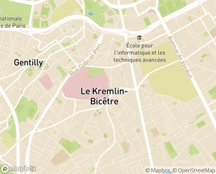 Localisation Hôpitaux Universitaires Paris-Sud, Hôpital Bicêtre (AP-HP) - 94275 - Le Kremlin-Bicêtre