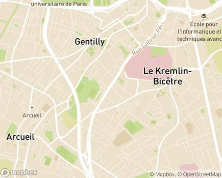 Localisation ESAT Seguin - 94270 - Le Kremlin-Bicêtre