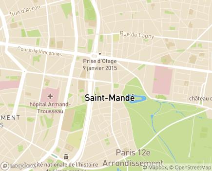 Localisation Institut Le Val Mandé Promotion de la personne handicapée - 94160 - Saint-Mandé