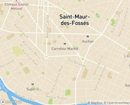 Localisation Les Foyers de Saint Maur - 94100 - Saint-Maur-des-Fossés