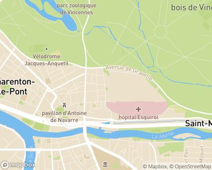 Localisation Hôpitaux de Saint-Maurice - 94410 - Saint-Maurice