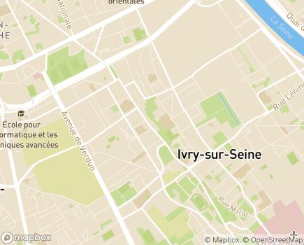 Localisation EHPAD Résidence Tiers Temps - 94200 - Ivry-sur-Seine