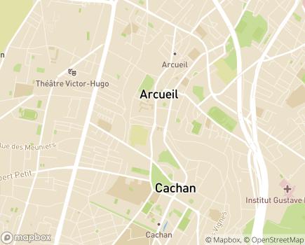 Localisation Résidence Autonomie de l'Aqueduc - 94230 - Cachan