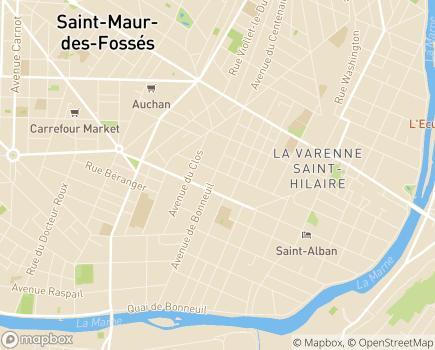 Localisation Korian Villa Saint-Hilaire - 94210 - La Varenne-Saint-Hilaire