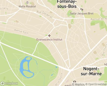 Localisation UDSM - Union pour la Défense de la Santé Mentale - 94120 - Fontenay-sous-Bois