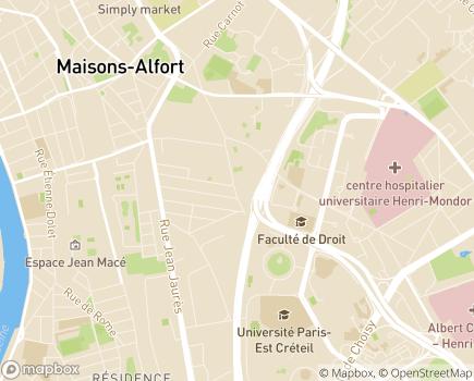 Localisation ESAT Maurice Legros - 94000 - Créteil