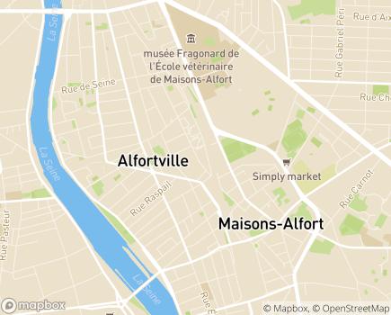 Localisation Maison d'Accueil Spécialisée Robert Séguy - 94140 - Alfortville