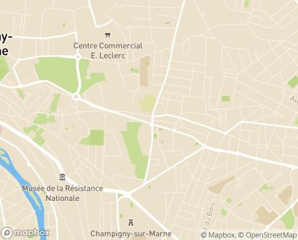 Localisation ESAT Pierre Souweine - 94500 - Champigny-sur-Marne