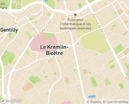 Localisation FAM La Maison de l'ETAI - 94372 - Le Kremlin-Bicêtre