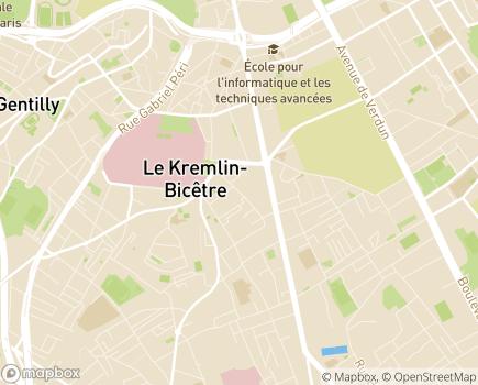 Localisation Foyer d'Accueil Temporaire Le Relais de l'ETAI - 94372 - Le Kremlin-Bicêtre