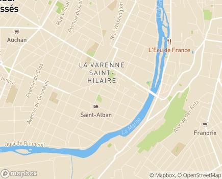 Localisation Vivr'AG Service de Soins Infirmiers à Domicile - 94100 - Saint-Maur-des-Fossés