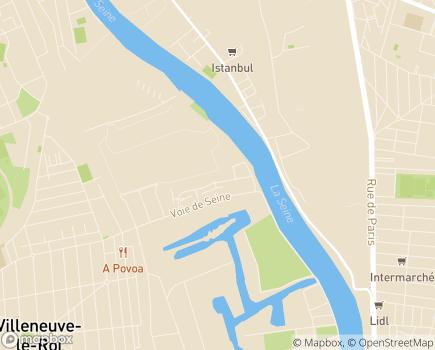 Localisation Domitys Les Sables d'Or - Résidence avec Services - 94290 - Villeneuve-le-Roi