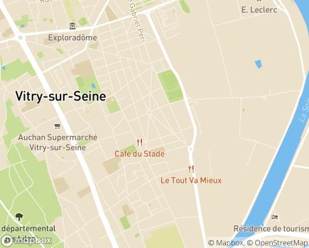 Localisation Résidence Accueil de Vitry-sur-Seine - 94400 - Vitry-sur-Seine