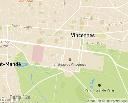 Localisation Les Templitudes - 94300 - Vincennes