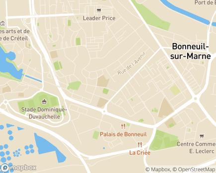 Localisation Centre d'Accueil de Jour Les Sarrazins - 94000 - Créteil