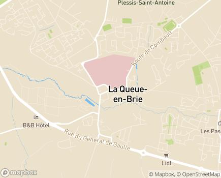 Localisation Villa Caudacienne LNA Santé - 94510 - La Queue-en-Brie