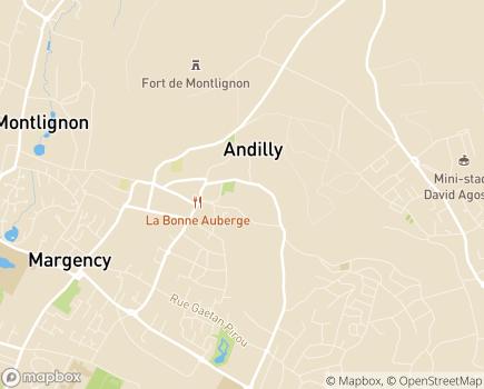 Localisation Clinique Les Orchidées - 95580 - Andilly