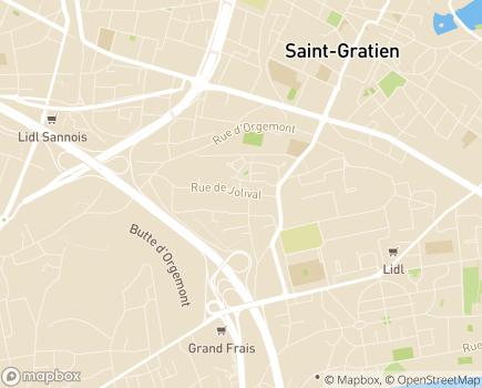 Localisation ESAT Les Ateliers du Val d'Argent - 95100 - Argenteuil