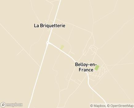 Localisation Clinique de Soins de Suite de Belloy - 95270 - Belloy-en-France