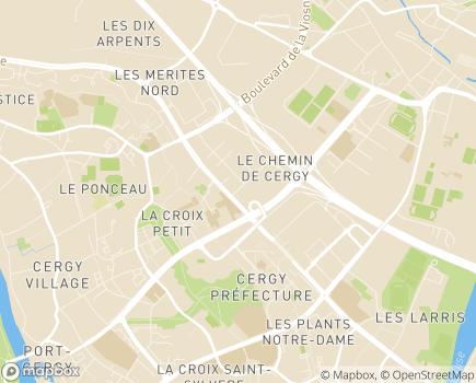 Localisation Caisse Régionale d'Assurance Maladie - 95017 - Cergy-Pontoise